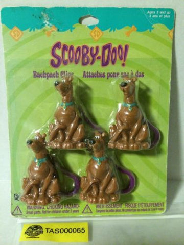 (TAS000065) - Scooby-Doo Backpack Clips - 4 Pack, , Other, Scooby Doo, The Angry Spider Vintage Toys & Collectibles Store