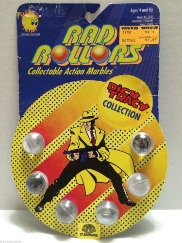 (TAS006965) - 1990 Spectra Star Rad Rollors Marbles - Dick Tracy Collection, , Marbles, Spectra Star, The Angry Spider Vintage Toys & Collectibles Store