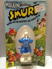 (TAS006918) - Walking Smurf Wind Me Up and Lets Go Smurfing - Galoob, , Other, The Smurfs, The Angry Spider Vintage Toys & Collectibles Store