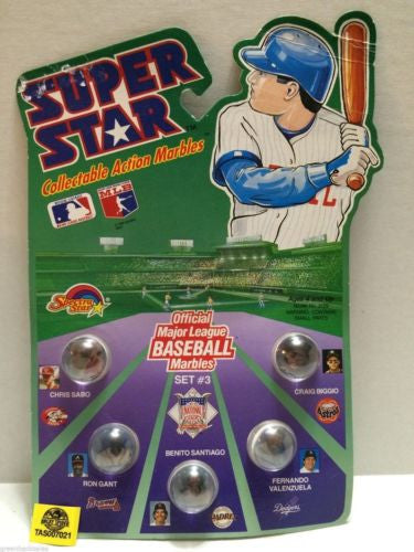 (TAS007021) - 1990 Spectra Star Super Star Baseball Marbles - Set #3, , Marbles, Spectra Star, The Angry Spider Vintage Toys & Collectibles Store