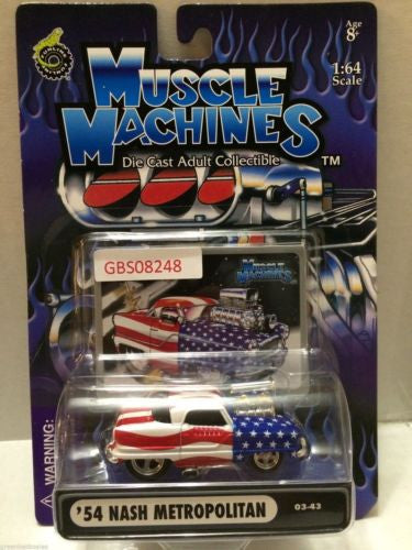 (TAS030798) - Muscle Machines Die Cast Car - '54 Nash Metropolitan, , Cars, Muscle Machines, The Angry Spider Vintage Toys & Collectibles Store