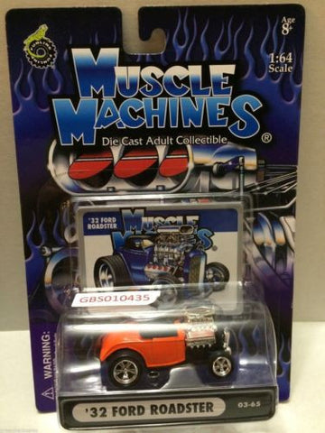 (TAS030784) - Muscle Machines Die Cast Car - '32 Ford Roadster, , Cars, Muscle Machines, The Angry Spider Vintage Toys & Collectibles Store