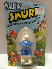 (TAS006827) - Walking Smurf Wind Me Up and Lets Go Smurfing - Galoob, , Other, The Smurfs, The Angry Spider Vintage Toys & Collectibles Store