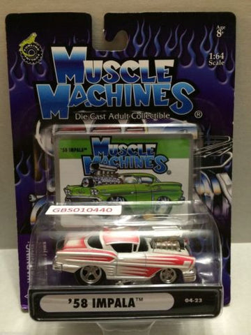 (TAS030789) - Muscle Machines Die Cast Car - '58 Impala, , Cars, Muscle Machines, The Angry Spider Vintage Toys & Collectibles Store