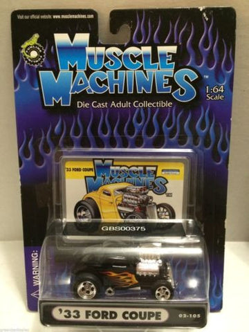 (TAS030758) - Muscle Machines Die Cast Car - '33 Ford Coupe, , Cars, Muscle Machines, The Angry Spider Vintage Toys & Collectibles Store