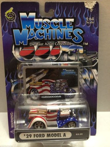 (TAS030752) - Muscle Machines Die Cast Car - '29 Ford Model A, , Cars, Muscle Machines, The Angry Spider Vintage Toys & Collectibles Store