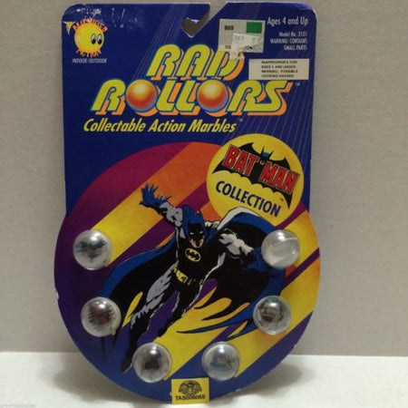 (TAS006055) - 1990 Spectra Star Rad Rollors Action Marbles - Bat-Man Collection, , Marbles, Spectra Star, The Angry Spider Vintage Toys & Collectibles Store