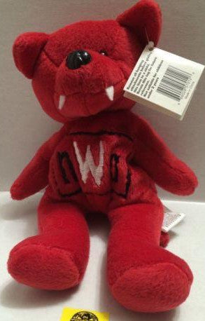(TAS006939) - WWE WWF Wrestling WCW NWO Beanie Bear, , Dolls, Wrestling, The Angry Spider Vintage Toys & Collectibles Store
