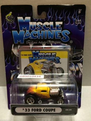 (TAS030783) - Muscle Machines Die Cast Car - '33 Ford Coupe, , Cars, Muscle Machines, The Angry Spider Vintage Toys & Collectibles Store