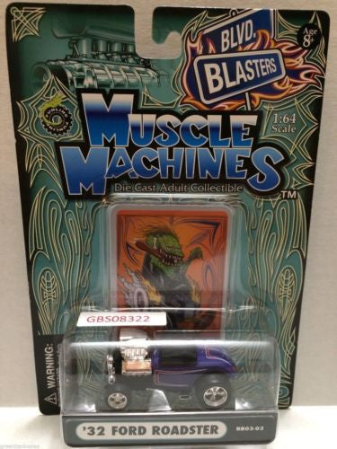 (TAS030808) - Muscle Machines Die Cast Car - '32 Ford Roadster, , Cars, Muscle Machines, The Angry Spider Vintage Toys & Collectibles Store