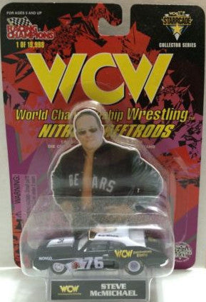 (TAS006261) - Racing Champions WCW Nitro-Streetrods 1:64 Car - Steve McMichael, , Trucks & Cars, Racing Champions, The Angry Spider Vintage Toys & Collectibles Store