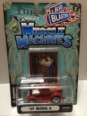 (TAS030811) - Muscle Machines Die Cast Car - '29 Model A, , Cars, Muscle Machines, The Angry Spider Vintage Toys & Collectibles Store