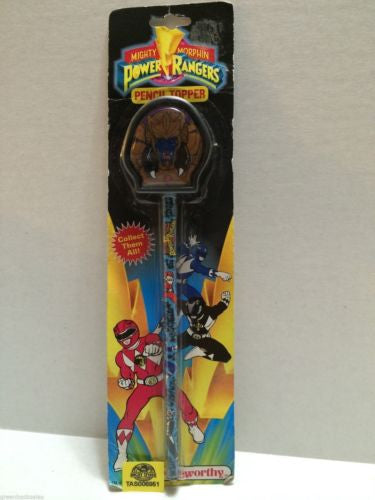 (TAS006951) - Mighty Morphin Power Rangers Pencil Topper, , Pencil Topper, Power Rangers, The Angry Spider Vintage Toys & Collectibles Store