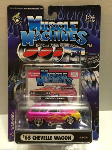 (TAS030750) - Muscle Machines Die Cast Car - '65 Chevelle Wagon, , Cars, Muscle Machines, The Angry Spider Vintage Toys & Collectibles Store