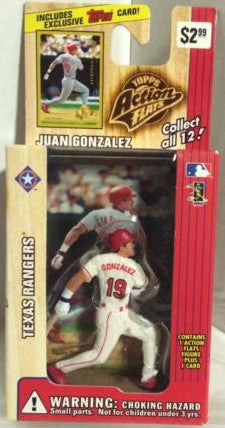 (TAS000244) - 1999 Topps Action Flats - Juan Gonzalez Texas Rangers, , Action Figure, Topps, The Angry Spider Vintage Toys & Collectibles Store