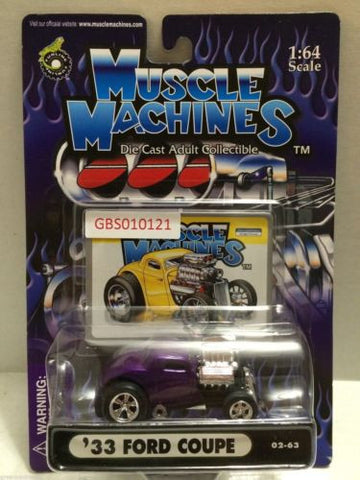 (TAS030772) - Muscle Machines Die Cast Car - '33 Ford Coupe, , Cars, Muscle Machines, The Angry Spider Vintage Toys & Collectibles Store