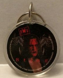(TAS003279) - WCW WWF WWE Wrestling Circle Keychain - Sting, , Keychain, Wrestling, The Angry Spider Vintage Toys & Collectibles Store
