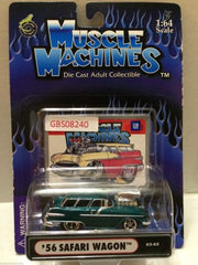 (TAS030795) - Muscle Machines Die Cast Car - '56 Safari Wagon, , Cars, Muscle Machines, The Angry Spider Vintage Toys & Collectibles Store