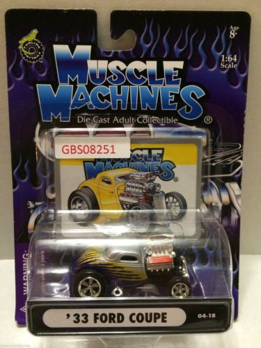 (TAS030800) - Muscle Machines Die Cast Car - '33 Ford Coupe, , Cars, Muscle Machines, The Angry Spider Vintage Toys & Collectibles Store