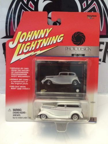 (TAS003106) - Johnny Lightning - Scott Williamson Art Cars - '34 Ford Victoria, , Cars, Johnny Lightning, The Angry Spider Vintage Toys & Collectibles Store