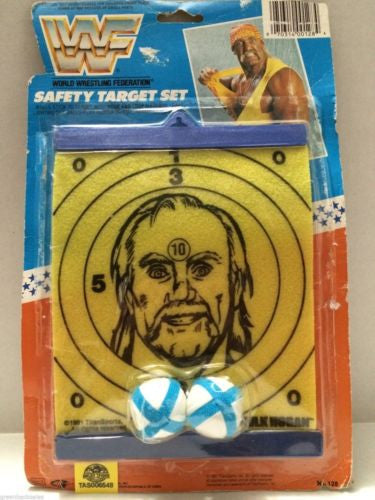 (TAS006548) - WWE WWF WCW Wrestling Safety Target Set - Hulk Hogan, , Game, Wrestling, The Angry Spider Vintage Toys & Collectibles Store