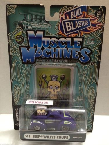 (TAS030810) - Muscle Machines Die Cast Car - '41 Jeep Willys Coupe, , Cars, Muscle Machines, The Angry Spider Vintage Toys & Collectibles Store