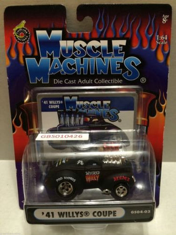 (TAS030776) - Muscle Machines Die Cast Car - '41 Willys Coupe, , Cars, Muscle Machines, The Angry Spider Vintage Toys & Collectibles Store
