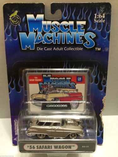 (TAS030755) - Muscle Machines Die Cast Car - '56 Safari Wagon, , Cars, Muscle Machines, The Angry Spider Vintage Toys & Collectibles Store
