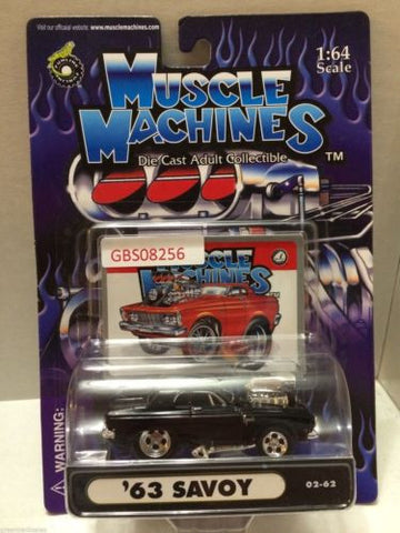 (TAS030803) - Muscle Machines Die Cast Car - '63 Savoy, , Cars, Muscle Machines, The Angry Spider Vintage Toys & Collectibles Store