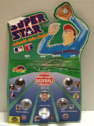 (TAS007015) - 1990 Spectra Star Super Star Baseball Marbles - Set #4, , Marbles, Spectra Star, The Angry Spider Vintage Toys & Collectibles Store