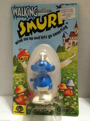 (TAS006881) - Walking Smurf Wind Me Up & Lets Go Smurfing - Galoob, , Other, The Smurfs, The Angry Spider Vintage Toys & Collectibles Store