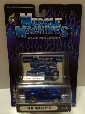 (TAS030782) - Muscle Machines Die Cast Car - '40 Willy's, , Cars, Muscle Machines, The Angry Spider Vintage Toys & Collectibles Store