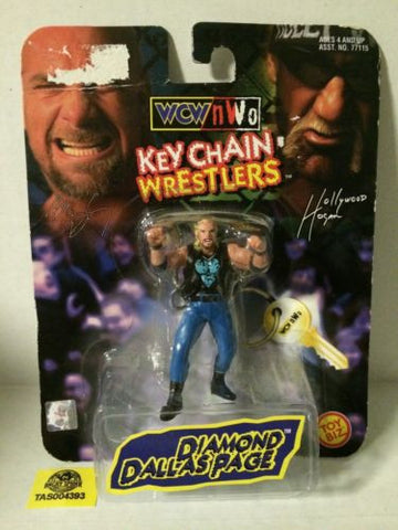 (TAS004393) - WWE WWF WCW LJN Wrestling Toy Biz Key Chain - Diamond Dallas Page, , Key Chain, Wrestling, The Angry Spider Vintage Toys & Collectibles Store