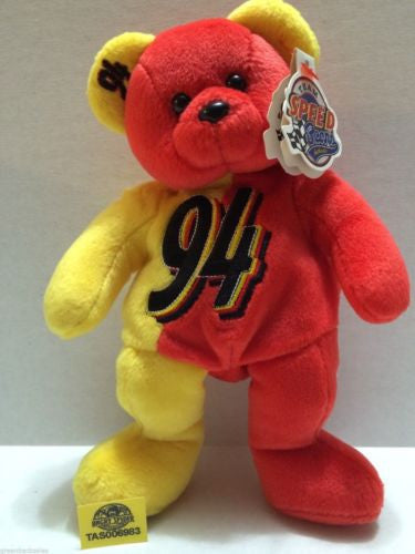 (TAS006983) - Team Speed Beans - Bill Elliott #94 Beanie Bear, , Dolls, Nascar, The Angry Spider Vintage Toys & Collectibles Store