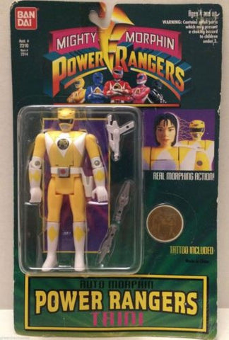 (TAS009309) - 1994 Bandai Mighty Morphin Power Rangers Auto Morphin - Trini, , Action Figure, Power Rangers, The Angry Spider Vintage Toys & Collectibles Store  - 1