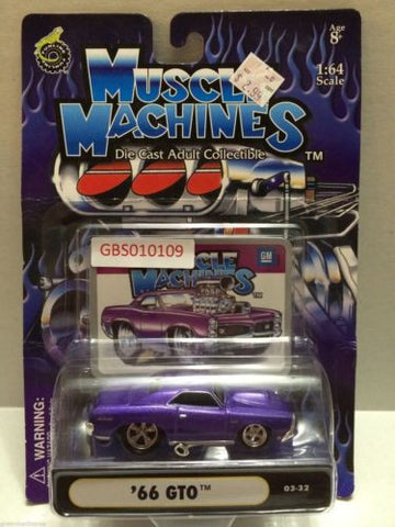 (TAS030765) - Muscle Machines Die Cast Car - '66 GTO, , Cars, Muscle Machines, The Angry Spider Vintage Toys & Collectibles Store