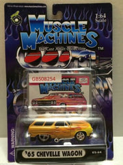 (TAS030802) - Muscle Machines Die Cast Car - '65 Chevelle Wagon, , Cars, Muscle Machines, The Angry Spider Vintage Toys & Collectibles Store