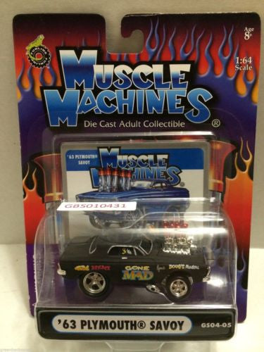(TAS030780) - Muscle Machines Die Cast Car - '63 Plymouth Savoy, , Cars, Muscle Machines, The Angry Spider Vintage Toys & Collectibles Store