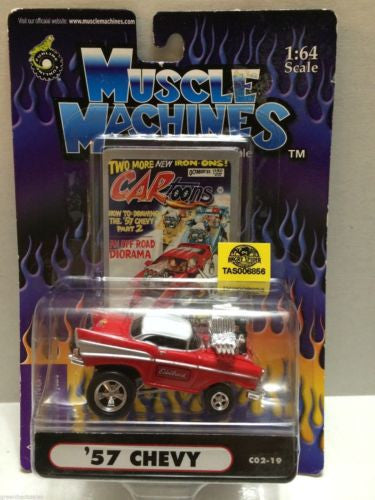 (TAS030822) - Muscle Machines Die Cast Car - '57 Chevy, , Cars, Muscle Machines, The Angry Spider Vintage Toys & Collectibles Store