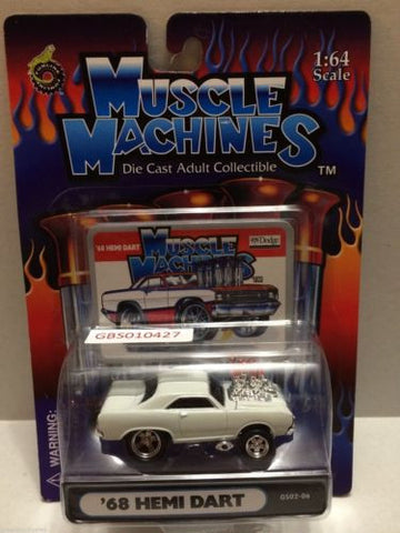 (TAS030777) - Muscle Machines Die Cast Car - '68 Hemi Dart, , Cars, Muscle Machines, The Angry Spider Vintage Toys & Collectibles Store