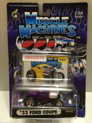 (TAS030767) - Muscle Machines Die Cast Car - '33 Ford Coupe, , Cars, Muscle Machines, The Angry Spider Vintage Toys & Collectibles Store