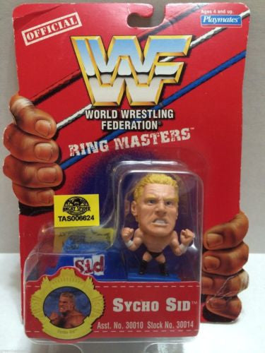 (TAS006624) - WWE WWF WCW nWo Wrestling Ring Masters Stand - Sycho Sid, , Action Figure, Wrestling, The Angry Spider Vintage Toys & Collectibles Store
