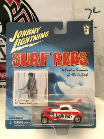 (TAS003210) - Johnny Lightning Surf Rods - Banzai Babes, , Cars, Johnny Lightning, The Angry Spider Vintage Toys & Collectibles Store