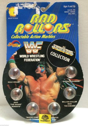 (TAS006817) - 1990 Spectra Star WWF Rad Rollors Marbles - Big Boss Man, , Marbles, Spectra Star, The Angry Spider Vintage Toys & Collectibles Store