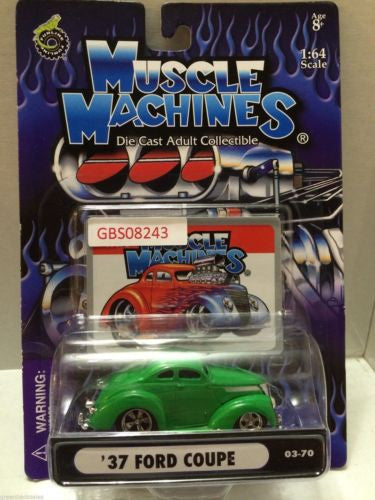 (TAS030797) - Muscle Machines Die Cast Car - '37 Ford Coupe, , Cars, Muscle Machines, The Angry Spider Vintage Toys & Collectibles Store