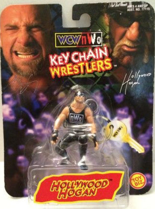 (TAS003380) - Toy Biz WCW WWE Key Chain Wrestlers - Hollywood Hogan, , Keychain, Toy Biz, The Angry Spider Vintage Toys & Collectibles Store