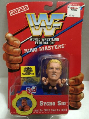 (TAS006133) - WWE WWF WCW nWo Wrestling Ring Masters Stand - Sycho Sid, , Action Figure, Wrestling, The Angry Spider Vintage Toys & Collectibles Store