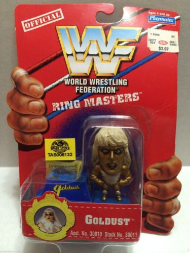 (TAS006132) - WWE WWF WCW nWo Wrestling Ring Masters Stand - Goldust, , Action Figure, Wrestling, The Angry Spider Vintage Toys & Collectibles Store