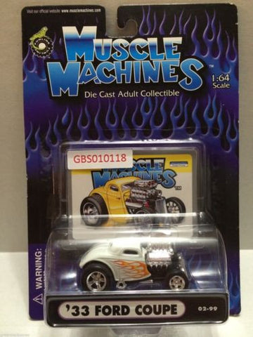 (TAS030770) - Muscle Machines Die Cast Car - '33 Ford Coupe, , Cars, Muscle Machines, The Angry Spider Vintage Toys & Collectibles Store