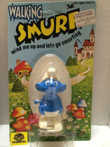 (TAS006784) - Walking Smurf Wind Me Up & Lets Go Smurfing - Galoob, , Other, The Smurfs, The Angry Spider Vintage Toys & Collectibles Store